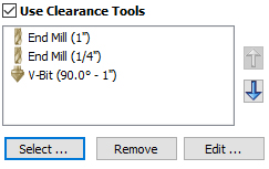 Optimizing Clearance Tools in VCarve Toolpaths